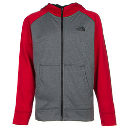 The North Face Boys Surgent Full Zip Hoodie (Previous Season), TNF Medium Grey Heather, 256