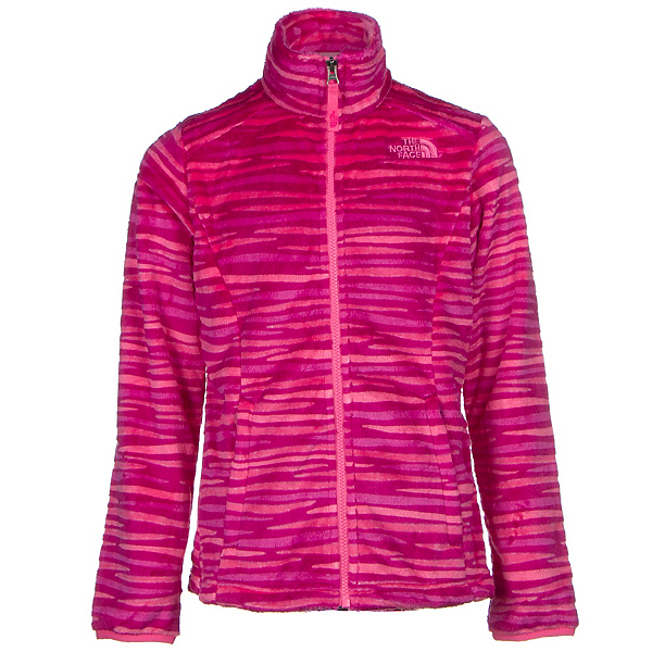 The North Face Osolita Girls Jacket (Previous Season), Roxbury Pink Wavy Stripe, 600