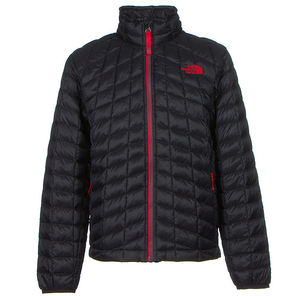 The North Face Boys ThermoBall Full Zip Jacket (Previous Season), TNF Black-TNF Red, 600