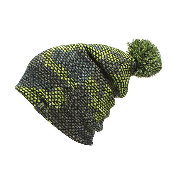 The North Face Youth Ski Tuke Kids Hat (Previous Season), Chive Green Mesh Camo, 600