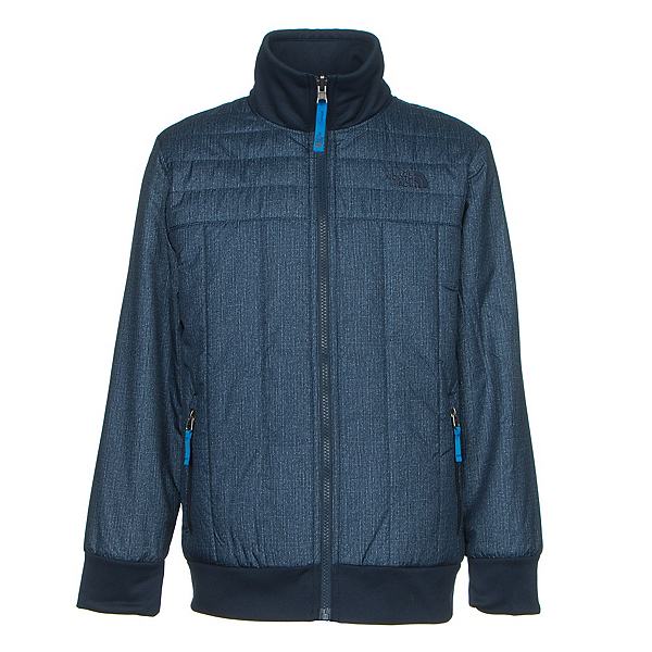 The North Face Boys Reversible Yukon Jacket (Previous Season), Cosmic Blue Denim Print, 600