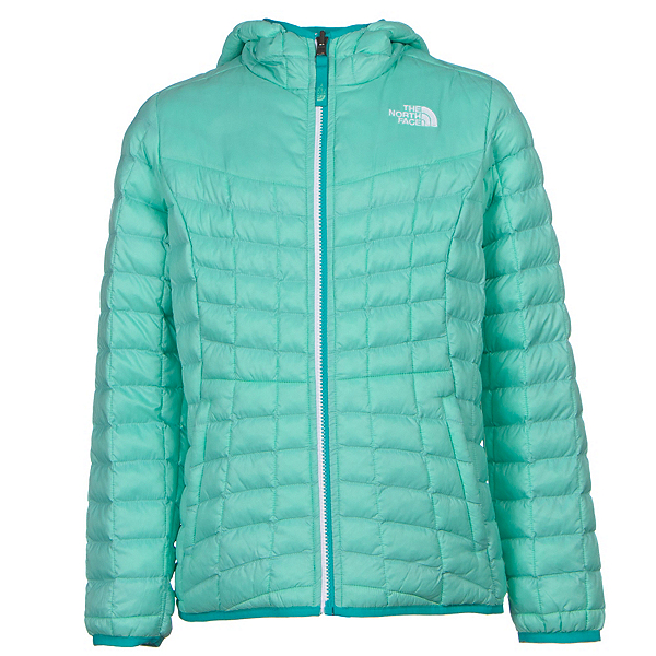 The North Face Reversible ThermoBall Hoodie Girls Midlayer (Previous Season), Ice Green, 600