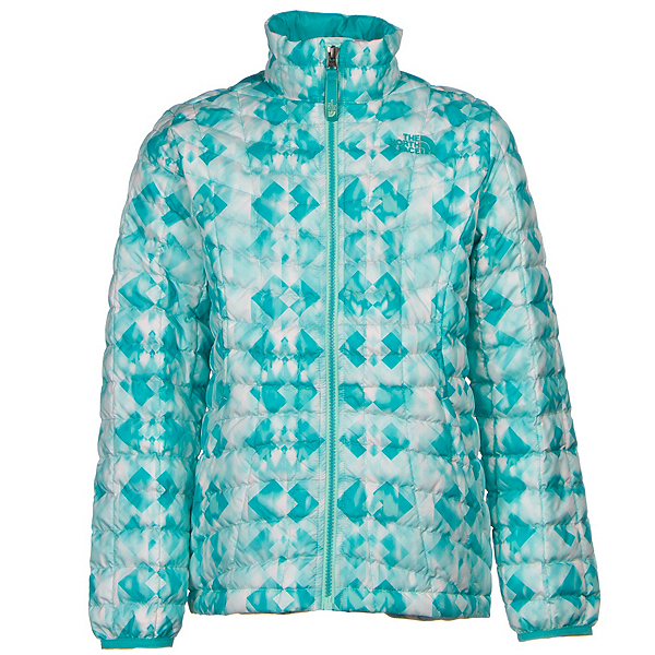 The North Face Girls ThermoBall Full Zip Jacket (Previous Season), Ice Green Geo Print, 600