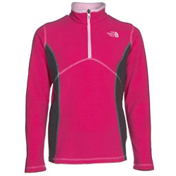 The North Face Glacier 1/4 Zip Girls Midlayer (Previous Season), Cabaret Pink, 256