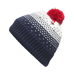 The North Face Youth Pom Pom Beanie Kids Hat, Cosmic Blue, 256
