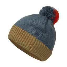 The North Face Youth Pom Pom Beanie Kids Hat, Conquer Blue-British Khaki-Tib, 256