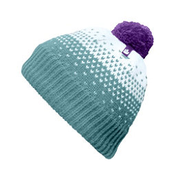 The North Face Youth Pom Pom Beanie Kids Hat, Nimbus Blue-Origin Blue-Bellfl, 256