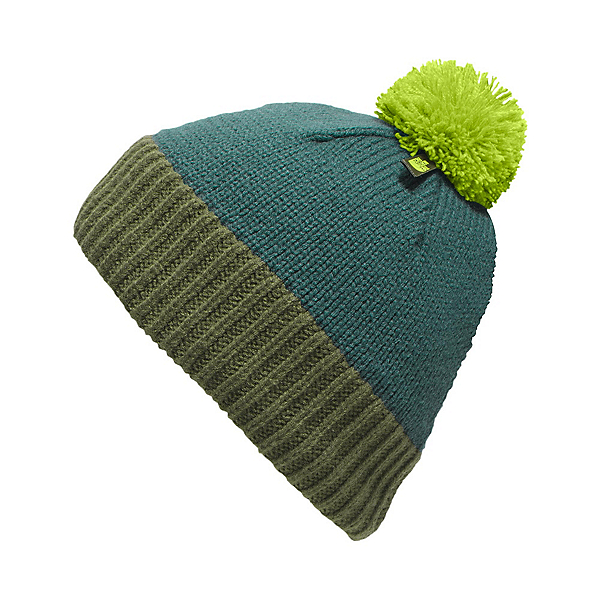 The North Face Youth Pom Pom Beanie Kids Hat (Previous Season), Deep Teal Blue-Terrarium Green, 600
