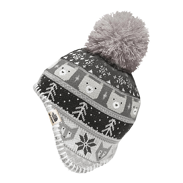 The North Face Baby Faroe Beanie Toddlers Hat (Previous Season), Metallic Silver-TNF White, 600