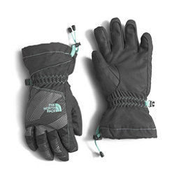 The North Face Youth Revelstoke Etip Kids Gloves (Previous Season), Graphite Grey-Ice Green, 256