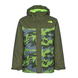 The North Face Brayden Insulated Boys Ski Jacket (Previous Season), Terrarium Green Mesh Camo, 256