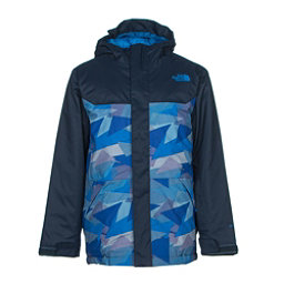 The North Face Brayden Insulated Boys Ski Jacket (Previous Season), Jake Blue Geo Camo, 256