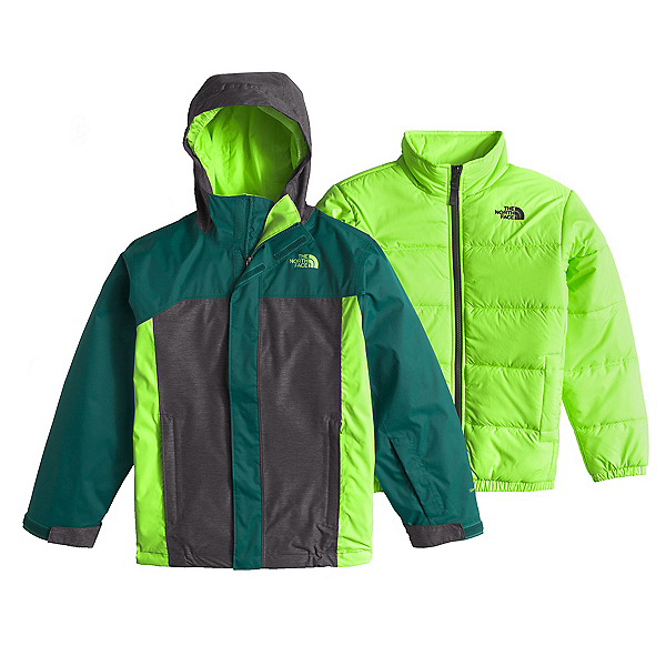 The North Face Boundary Triclimate Boys Ski Jacket (Previous Season), Deep Teal Blue, 600