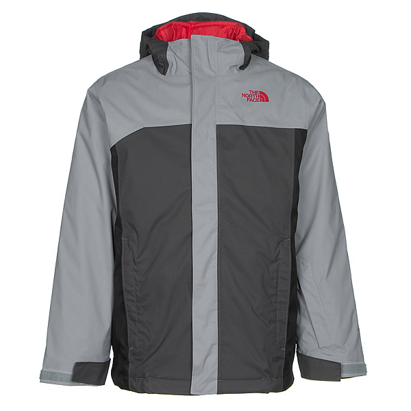 The North Face Boundary Triclimate Boys Ski Jacket (Previous Season), Mid Grey, 600