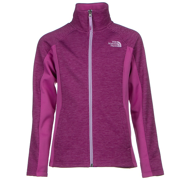 The North Face Arcata Full Zip Girls Jacket (Previous Season), Wisteria Purple Heather, 600
