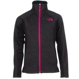 The North Face Arcata Full Zip Girls Jacket (Previous Season), Graphite Grey Heather, 256