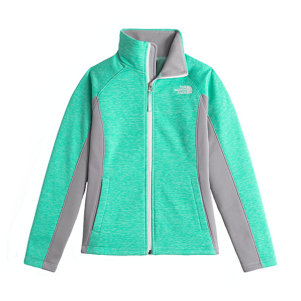 The North Face Arcata Full Zip Girls Jacket (Previous Season), Ice Green Heather, 600