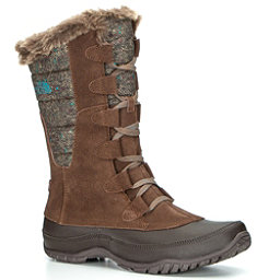 The North Face Nuptse Purna Womens Boots (Previous Season), Dark Earth Brown-Storm Blue, 256
