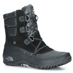 The North Face Nuptse Purna Shorty Womens Boots (Previous Season), TNF Black-Plum Kitten Grey, 256