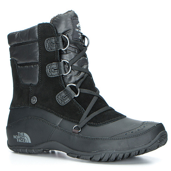 The North Face Nuptse Purna Shorty Womens Boots (Previous Season), TNF Black-Plum Kitten Grey, 600