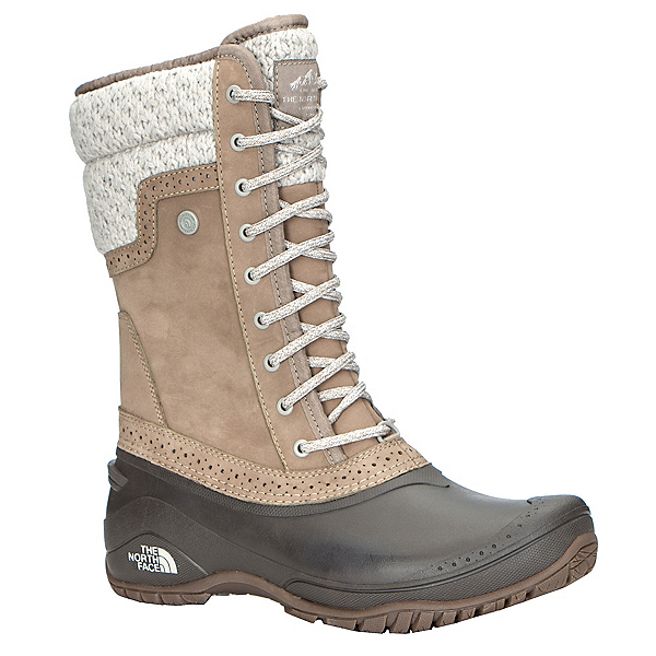 The North Face Shellista II Mid Womens Boots, Split Rock Brown-Dove Grey, 600