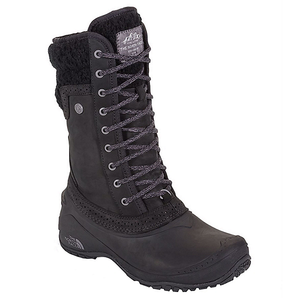 The North Face Shellista II Mid Womens Boots, TNF Black-Plum Kitten Grey, 600