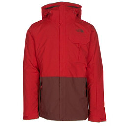 The North Face Gambit Triclimate Mens Insulated Ski Jacket (Previous Season), Fiery Red-Hot Chocolate Brown, 256