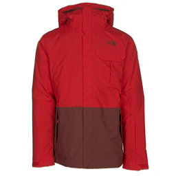 The North Face Garner Triclimate Mens Insulated Ski Jacket (Previous Season), Fiery Red-Hot Chocolate Brown, 256