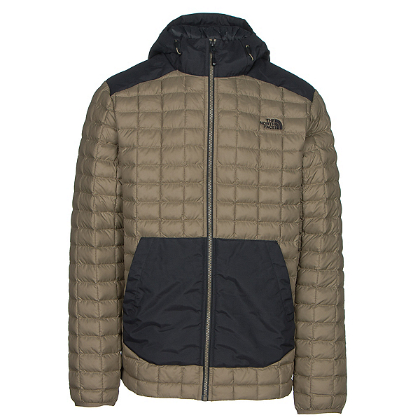 The North Face ThermoBall Snow Hoodie Mens Jacket (Previous Season), Caper Berry Green, 600