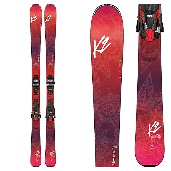 K2 OoolaLuv 85Ti Womens Skis with Marker ERC 11 TCX Bindings 2017, , 600