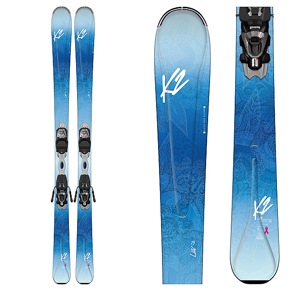 K2 Luv 75 Womens Skis with Marker ERP 10 Bindings, , 600