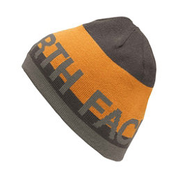 The North Face Reversible TNF Banner Beanie (Previous Season), Asphalt Grey-Citrine Yellow, 256