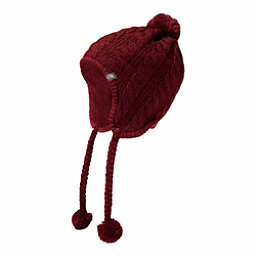 The North Face Womens Fuzzy Earflap Beanie, Barolo Red, 256
