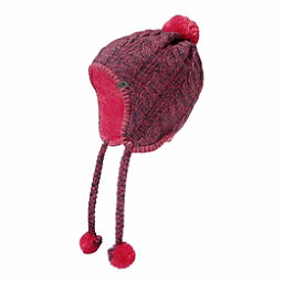 The North Face Womens Fuzzy Earflap Beanie, Ink Blue-Honeysuckle Pink, 256