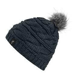 The North Face Triple Cable Fur Pom Beanie, Asphalt Grey, 256