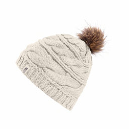 The North Face Triple Cable Fur Pom Beanie, Vintage White, 256