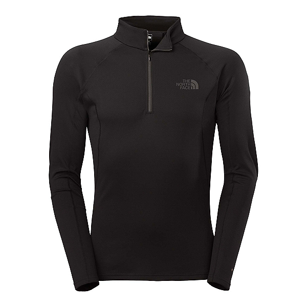 The North Face Warm L/S Zip Neck Mens Long Underwear Top, TNF Black, 600