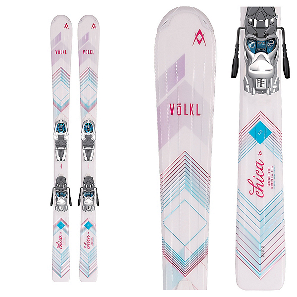 Volkl Chica Jr. Kids Skis with 3Motion 7.0 Bindings 2017, , 600
