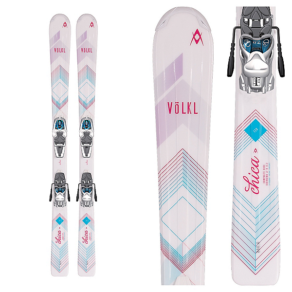 Volkl Chica Jr. Kids Skis with 3Motion 4.5 Bindings 2017, , 600