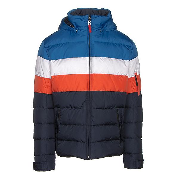 Bogner Fire + Ice Lars2 D Mens Insulated Ski Jacket, Blue-White-Red, 600