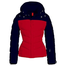 Bogner Fire + Ice Sally2 Down Womens Insulated Ski Jacket, Navy-Red, 256