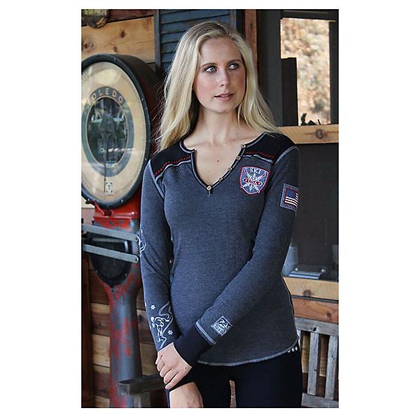 Alp-n-Rock Ski Local Long Sleeve Henley Womens Shirt, , 600