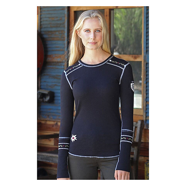 Alp-n-Rock Slopeside Long Sleeve Crew Womens Shirt, Black, 600