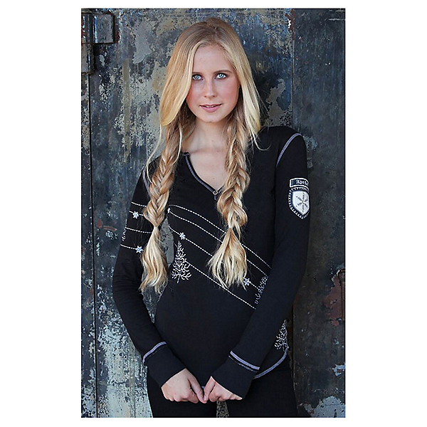 Alp-n-Rock Home Long Sleeve Henley Womens Shirt, , 600