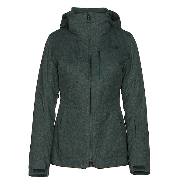The North Face ThermoBall Snow Triclimate Parka Womens Insulated Ski Jacket (Previous Season), Darkest Spruce Heather, 600