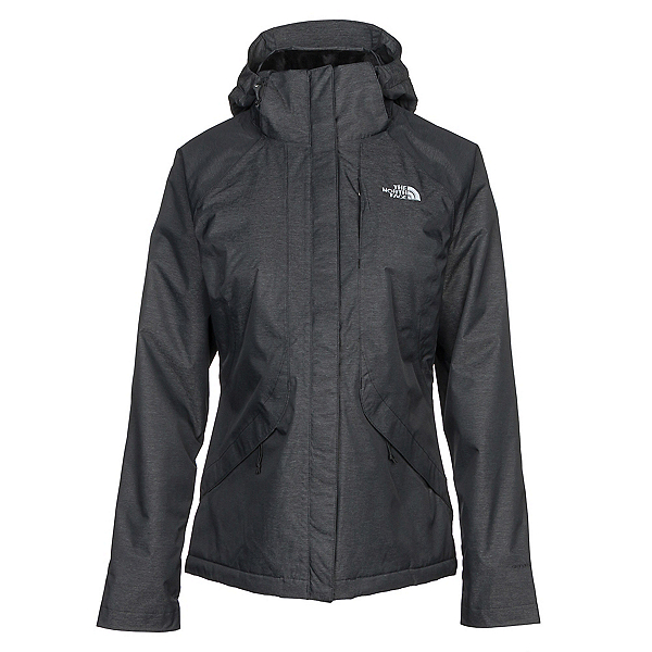 The North Face Inlux Womens Insulated Ski Jacket, TNF Black Heather, 600