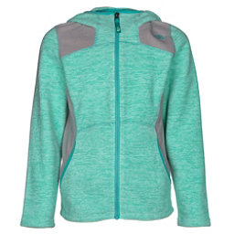 The North Face Viva Fleece Hoodie Girls Jacket (Previous Season), Ice Green Heather, 256