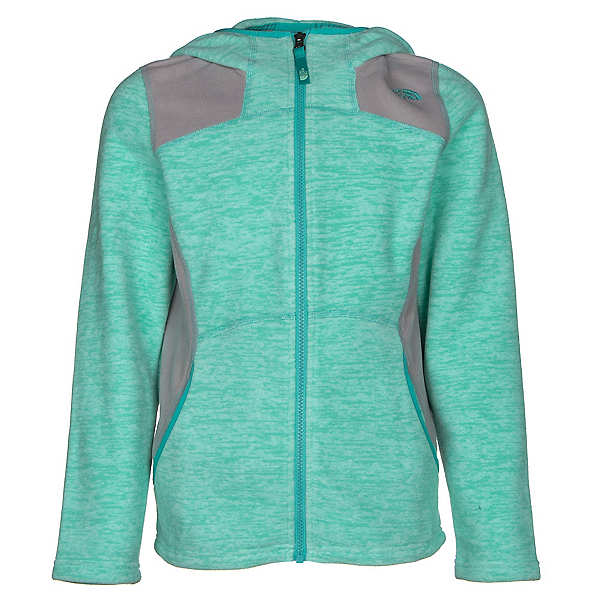 The North Face Viva Fleece Hoodie Girls Jacket (Previous Season), Ice Green Heather, 600