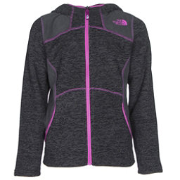 The North Face Viva Fleece Hoodie Girls Jacket (Previous Season), TNF Black Heather, 256