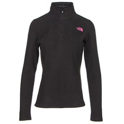The North Face PR Glacier 1/4 Zip Womens Mid Layer, TNF Black-Meadow Pink, 256